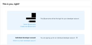 Twitter API 本人確認画面