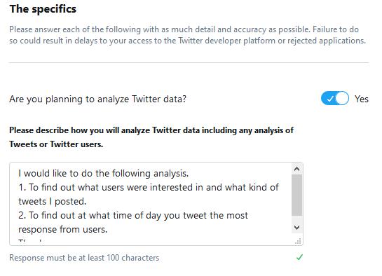 Twitter のデータ利用についての質問